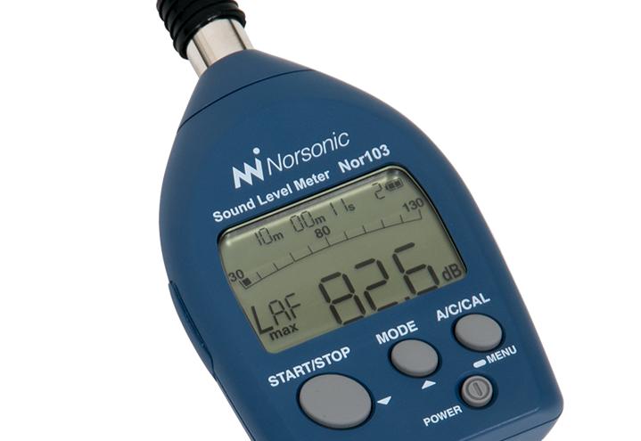Nor103 Ljudnivåmätare det perfekt verktyg för enklare mätuppdrag