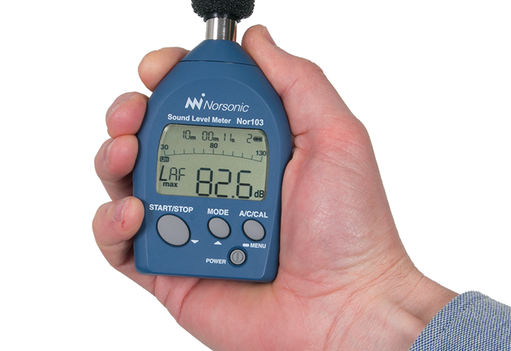 Nor103 Ljudnivåmätare en liten och smidig klass 1 ljudnivåmätare