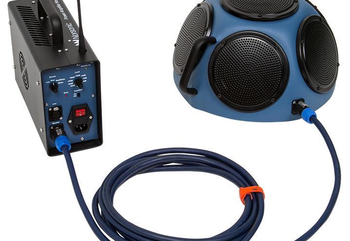 Halvsfärisk högtalare Nor275 och förstärkare Nor280