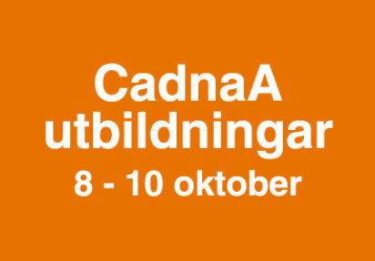 CadnaA – utbildningar 8-10 oktober